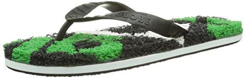 GlobeMerkin-Matrix - Sandali infradito Unisex - Adulto , Nero (Schwarz (black/white/green)), 44.5