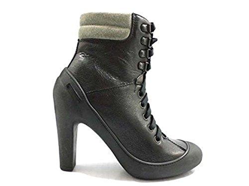 scarpe donna PIRELLI 36 EU stivaletti nero gomma pelle WH300
