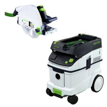 Festool Ts 75 Eq Plunge-Cut Saw With T-Loc Plus Ct 36 Dust Extractor Package front-635166