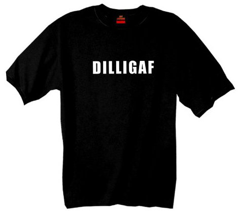 Hot Leathers DILLIGAF Short Sleeve Tee (Black, Large)