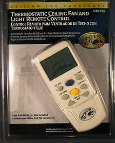 Hampton Bay Thermostatic Ceiling Fan and Light Remote Control 838-956 (Hampton Bay Remote Receiver compare prices)