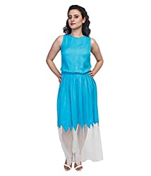 Tryfa Women's Dress (TFDRMX000078-XL-L_Blue_Large)