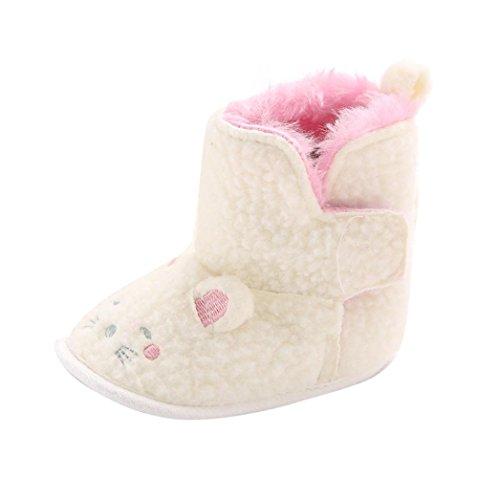 Kingko® Bambino pattini infantili della ragazza del neonato del gatto ha modellato morbido Sole Snow Boots pattini della greppia (6~12 mesi)