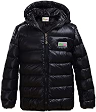 Hiheart Little Girls39 Ultra Light Thin Down Hooded Puffer Jacket