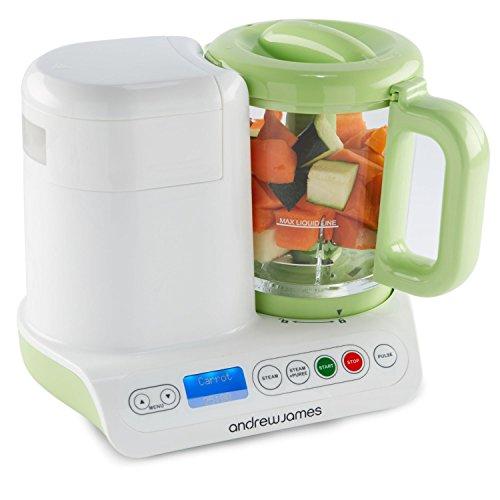 Andrew James Digital Baby Food Maker 2 Year Warranty 2 In 1