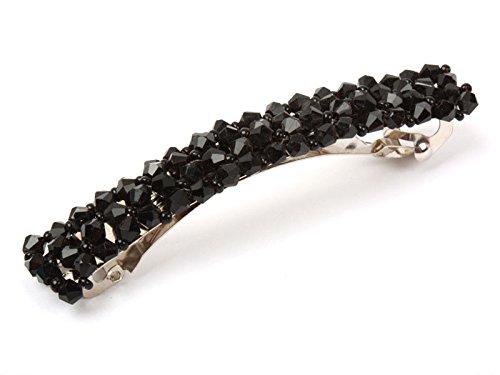 ヘアピン ラインストーン パール ビーズ 大人女性髪飾り 黒色