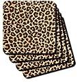 Lee Hiller Designs RAB Rockabilly - RAB Rockabilly Brown and Tan Leopard Print - Coasters