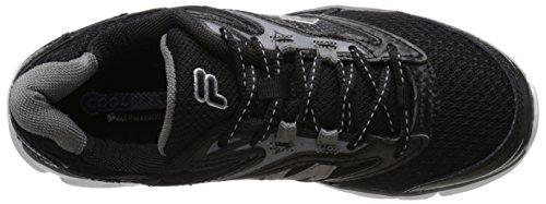 Fila Men's Stir Up Running Shoe, Black/Dark Silver/White, 9 M US