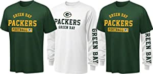 Green Bay Packers Youth Hunter Green NFL 3-In-1 T-Shirt Combo Pack by NFL Brand