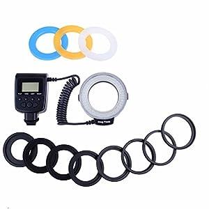 LED Macro Ring Flash Light Kit for Sony Alphy DSLR Cameras A500, A550, A560, A580, A900, A850, A200, A230, A290, A390, A33, A55, A65, A77