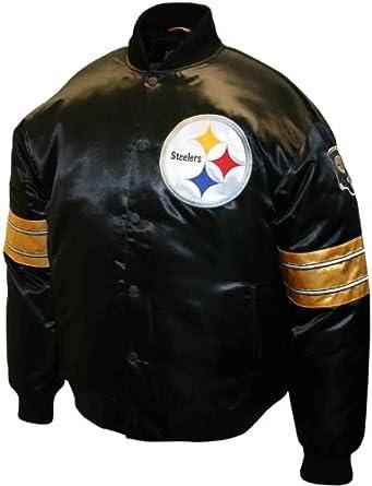 NFL Mens Pittsburgh Steelers Prime Satin Jacket by MTC Marketing, Inc