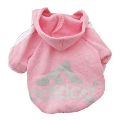 Zehui Pet Dog Cat Sweater Puppy T Shirt Warm Hoodies Coat Clothes Apparel Pink L