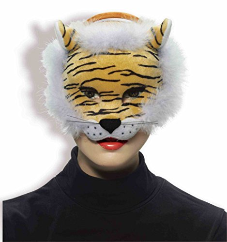 Forum Novelties Deluxe Plush Striped Tiger Animal Half Mask