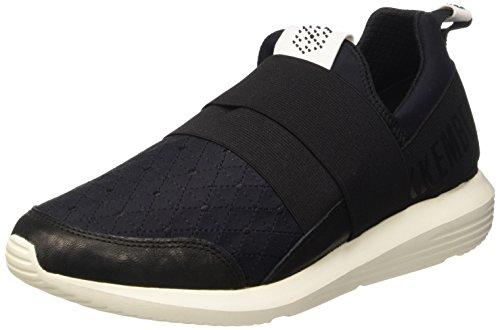 Bikkembergs Speed 582 L.Shoe M Elastic/Lycra Scarpe Low-Top, Uomo, Nero (Black/Origami Embroidery), 41