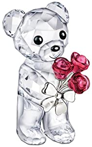 Swarovski Kris Bears Figurine, Red Roses For You