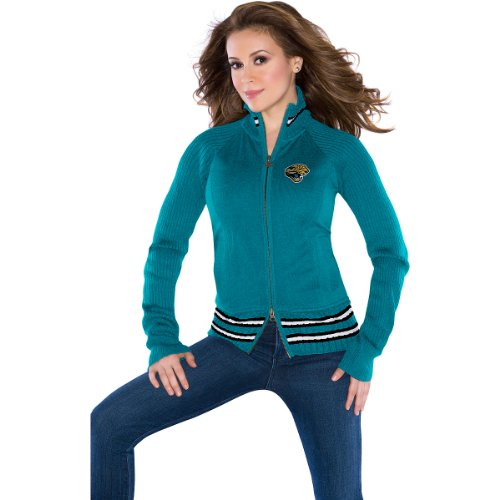 Touch by Alyssa Milano Jacksonville Jaguars Women's Sweater Mix Jacket Large at Amazon.com
