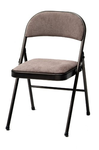 Meco 4-Pack Deluxe Fabric Padded Folding Chair, Cinnabar Frame and Corrin Fabric Seat and Back (Padded Folding Table compare prices)