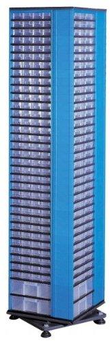 Kunststoff-Drehmagazin, VarioPlus System 35/404, blau, 35-zeilig, 404 Schübe
