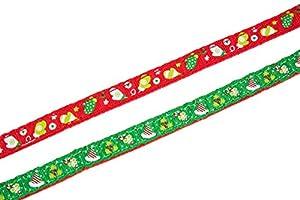 2 pcs Christmas Cat Breakaway Collar with Bell Designer, EXPAWLORER