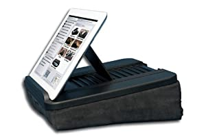 Prop 'n Go - Hybrid Lap Desk for iPad, iPad mini, Surface, Nexus 7 and eReaders with Adjustable Angle Control and Storage Pocket