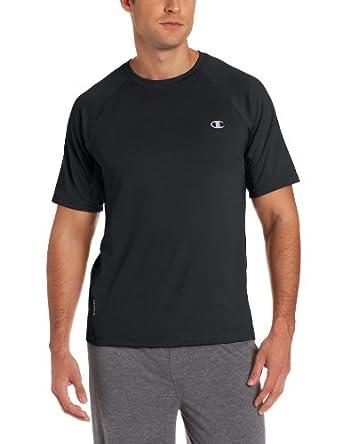 Champion Men's Powertrain  T-shirt, Black, Small