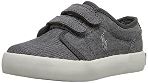 Polo Ralph Lauren Kids Ethan Low EZ Fashion Sneaker (Toddler), Grey, 4.5 M US Toddler