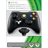 Xbox 360 Wireless Controller with Transforming D-Pad and Play and Charge Kit - Black