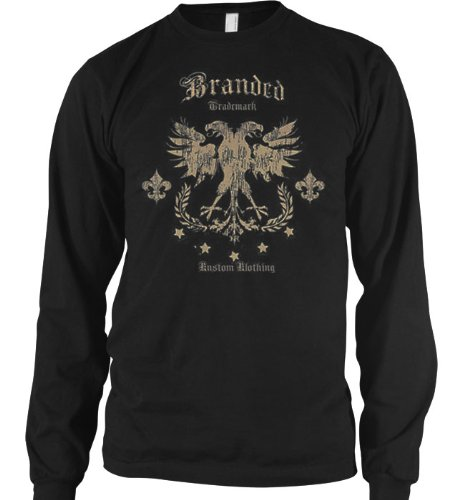 Old School Tattoo Chopper Style Design Mens Long Sleeve Thermal Shirt