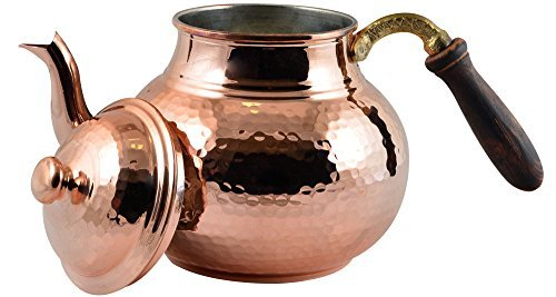 CopperBull Hammered Thickest Copper Tea Pot Kettle Stovetop Teapot,28 Oz (Copper Kettle compare prices)