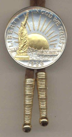 Two Toned U.S. Statue of Liberty half dollar tie