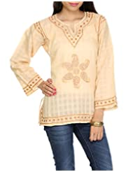 Rajrang Indian CLothing Embroidered Kurti Tunic Womens Top Size M