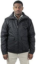 Steve Madden Men's Quilted Sherpa Bomber Jacket Coat