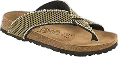 Birkis thong Cancun in size 35 Normal made of Textile in Mesh Trekking Green with a regular insole