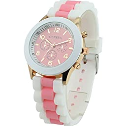 Tenflyer Fashion Silicone Band Jelly Color Quartz Wrist Watch for Girls