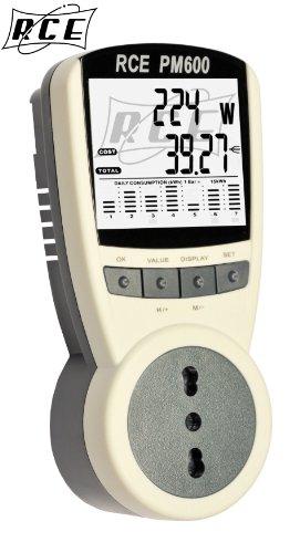 Misuratore Di Consumo Dell'Energia Elettrica RCE PM600 - Il modello più evoluto - Strumento di precisione ad alta risoluzione in grado di misurare anche potenze di decimi di Watt