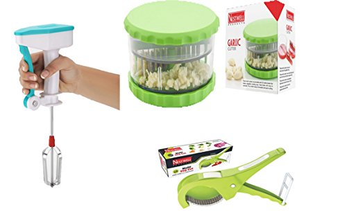 NESTWELL Power Free Blander WITH Garlic & Multi Crusher (ABS) WITH Multi Veg. Cut ABS (5 Laser Blade, 45mm)