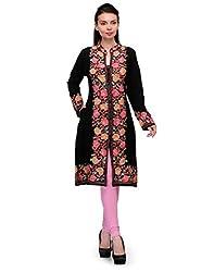 Belle Women's Woollen Kurta (BC 177_Black _40)