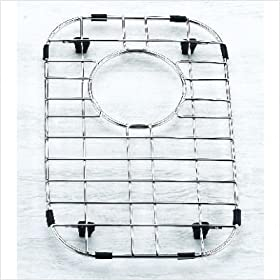 """8.75"""" x 14.125"""" Stainless Steel Sink Grid with Black Rubber Feet"""