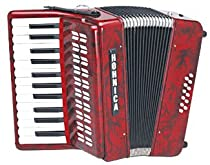 Hohner 1302 Red Hohnica Piano Key G-G Accordion