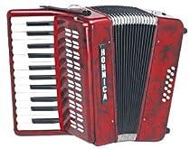 Hohner 1302 Red Hohnica Piano Key G-G Accordion
