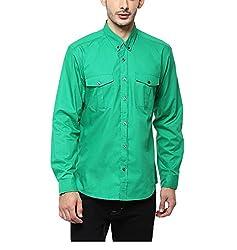 Yepme Men's Green Cotton Shirts - YPMSHRT1119_40