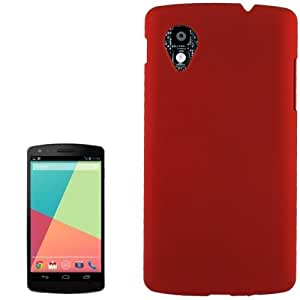 Anti-scratch Plastic Protective Case for Google Nexus 5 (Red)