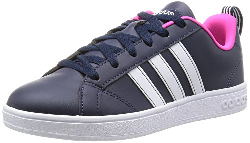 adidas Advantage, Scarpe da Ginnastica Basse Donna, Nero (Collegiate Navy/Ftwr White/Shock Pink), 39 1/3 EU