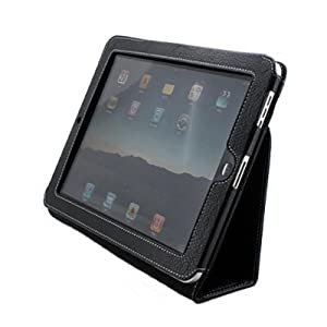 Genuine Leather Case Folio Apple Ipad 2 Tablet/wifi 3G Model 16gb, 32gb, 64gb - Black from Vary