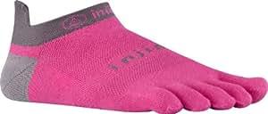 Injinji Unisex Run Lightweight No Show Coolmax 3 Pair Pack Canyon Pink Socks LG (Men's Shoe 11-13, Women's Shoe 12 & Up)