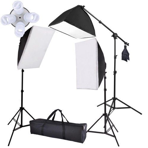 =>  NEW 3 Photography Softbox Video Studio Stand 2000W Continuous Lighting Kit Kits