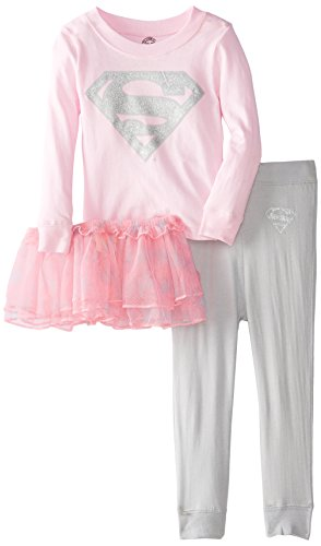 [Intimo Little Girls'  Supergirl Tutu Pajama Set, Multi, 3T] (Toddler Supergirl Tutu Set)