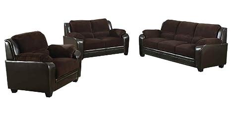 502811 Monika Stationary Sofa with Wood Feet by Coaster