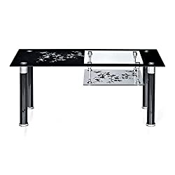 @home by Nilkamal Triton Center Table (Black)