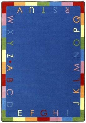 "Joy Carpets Kid Essentials Early Childhood Rainbow Alphabet Rug, Bold, 5'4"" x 7'8"""